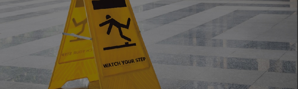 warning sign so person doesn't need slip and fall attorneys in Anderson, SC